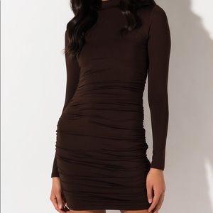 Long sleeve mini bodycon dress